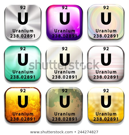 An icon showing the element Uranium Stock photo © bluering