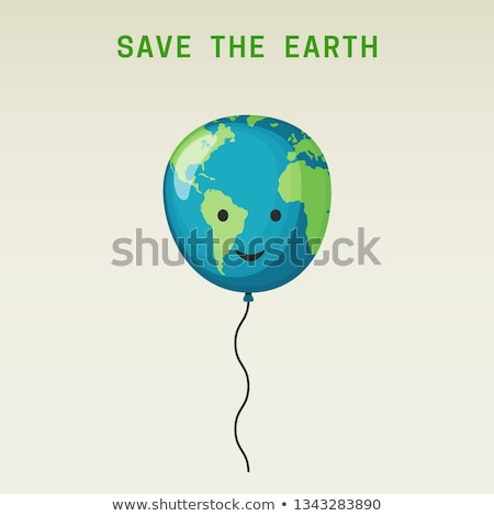 earth with balloon Stock photo © get4net