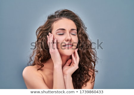 natural brunete young woman posing in clear background Stock photo © Studiotrebuchet