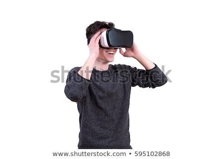 Fickó védőszemüveg néz 3D multimédia tartalom Stock fotó © stevanovicigor