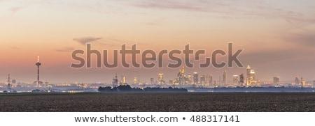 мнение Франкфурт Skyline полях ночь здании Сток-фото © meinzahn