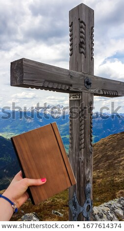Book with trail in the countryside Stock photo © bluering