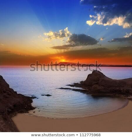Oceano crepúsculo canárias Espanha ver veleiros Foto stock © nito