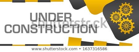 Szary narzędzi budowy tekst stronie projektu Zdjęcia stock © SArts