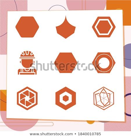 人 六角形 抽象的な カラフル ストックフォト © user_11138126