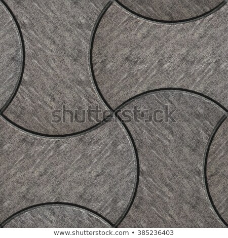 Gray with Scuffed Figured Paving Slabs. Stock photo © tashatuvango