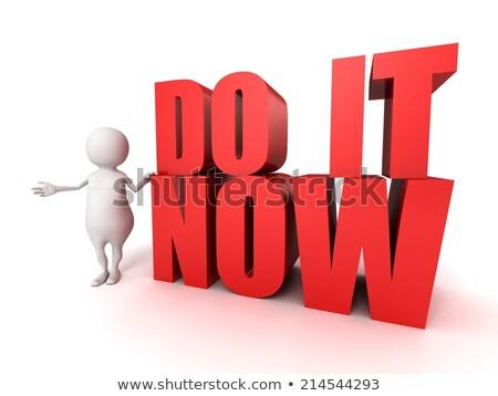 time to plan   cartoon red word business concept stock photo © tashatuvango