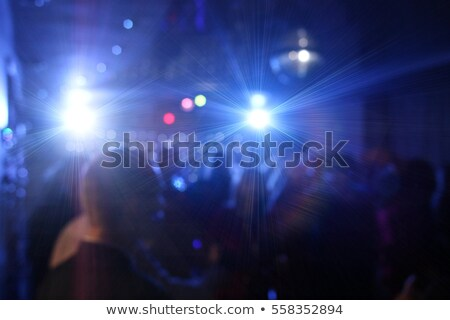 Blurred  disco ball inside club with colorful laser lights - Def Stock photo © DisobeyArt