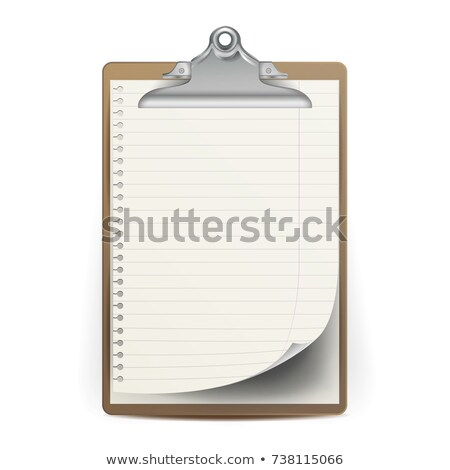 realistic clipboard with paper vector mock up for your design a4 size isolated on white backgroun stock photo © pikepicture