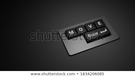 Inspiration CloseUp of Keyboard. 3D. Stock photo © tashatuvango