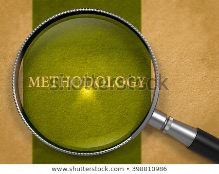 oud · papier · groene · verticaal · lijn · business - stockfoto © tashatuvango