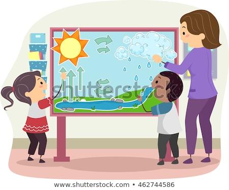 дети студентов учитель воды цикл иллюстрация Сток-фото © lenm