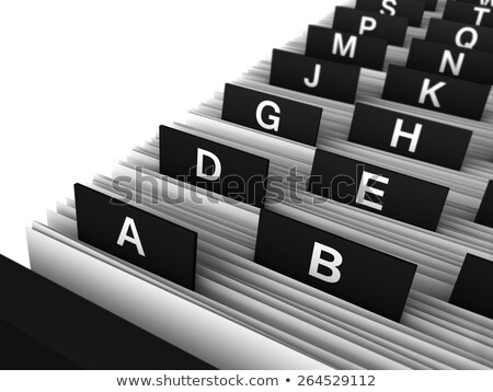 Card Index - Consulting. 3d Stock photo © tashatuvango