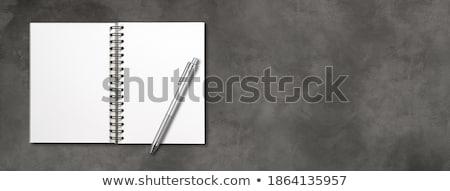Blank open spiral notebook isolated on dark grey Stock photo © daboost