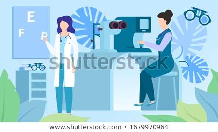 Equipos médicos oftalmología clínica mesa médicos marco Foto stock © wavebreak_media