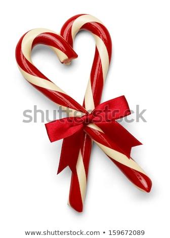 Photo stock: Bonbons · forme · de · coeur · lumière · ruban · Noël · personne