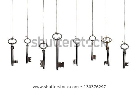 ключами подвесной металл безопасности черный стали Сток-фото © wavebreak_media