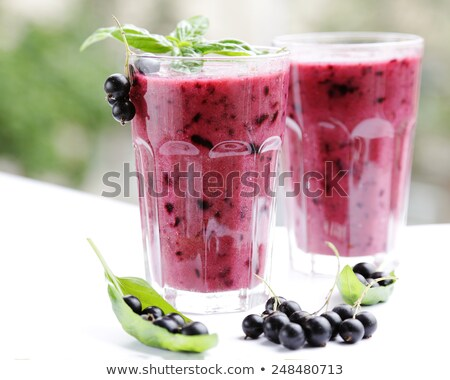 red and black currant smoothie stock photo © lana_m
