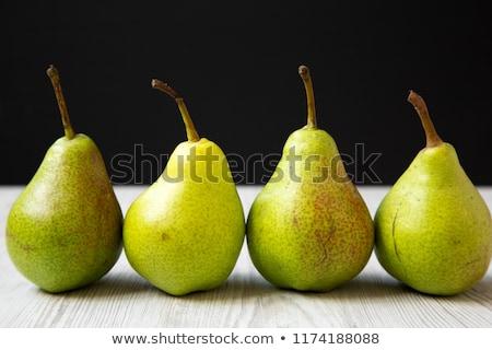 Quattro maturo pere bianco frutta dessert Foto d'archivio © Digifoodstock