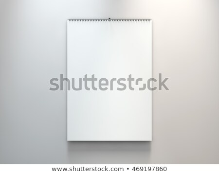 Blank design calendar template. 3D rendering Stock photo © user_11870380