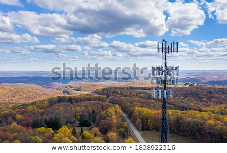 cctv · biztonsági · kamera · drótnélküli · kék · ég · út · technológia - stock fotó © limbi007
