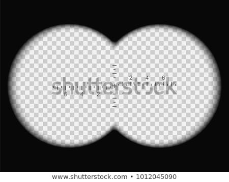 Binoculars view with transparent lens and Measuring scale. Stock photo © Andrei_