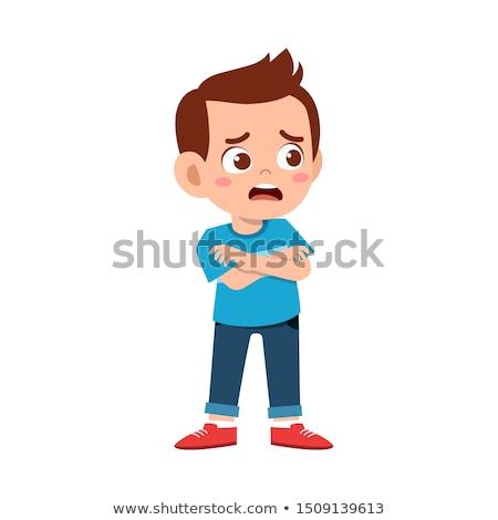 Cartoon страшно подростков мальчика иллюстрация Сток-фото © cthoman