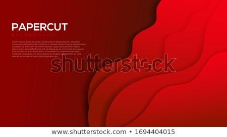 Elegante golvend stijl business papier abstract Stockfoto © SArts