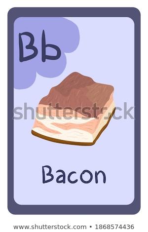 Büyü İngilizce kelime domuz pastırması örnek okul Stok fotoğraf © bluering