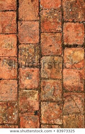tijolos · argila · solo · calçada · tradicional - foto stock © lunamarina
