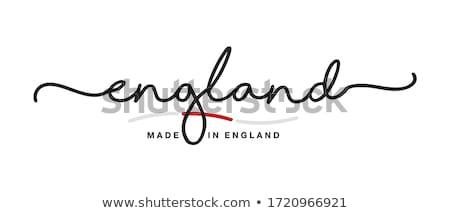 Англии лента английский цветами изолированный Сток-фото © kurkalukas