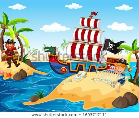 pirates and vikings stock photo © colematt