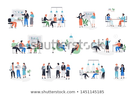 Boss and Workers Activities in Office Set Vector Stock photo © robuart