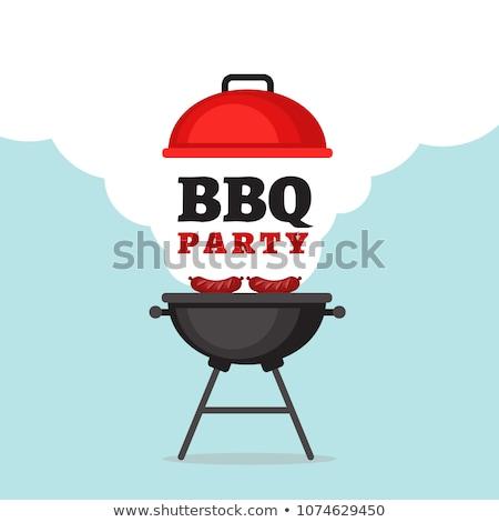 barbekü · parti · logo · logo · tasarımı · şablon · gıda - stok fotoğraf © robuart