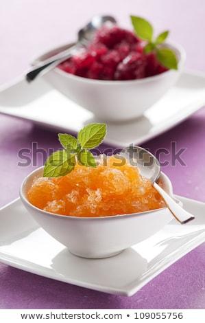 zoete · abrikoos · bril · ondiep · voedsel - stockfoto © AGfoto