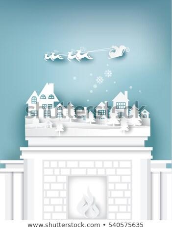 Рождества · место · карт · украшения · соснового - Сток-фото © robuart