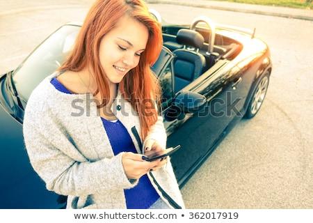 kadın · araba · el - stok fotoğraf © boggy
