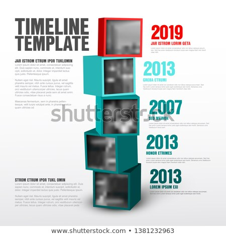 Timeline cubes with photos template Сток-фото © orson