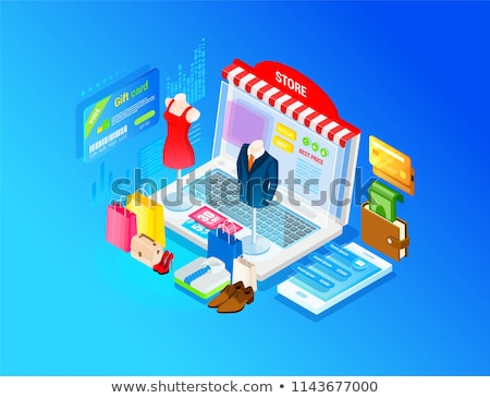Virtual fitting room vector web banner concept. Stock photo © RAStudio