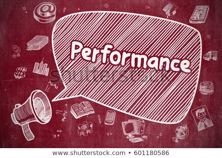 Quality Management - Doodle Illustration On Red Chalkboard Foto stock © Tashatuvango