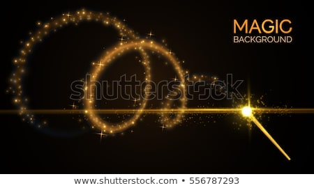 vector golden magic wand Stock photo © VetraKori