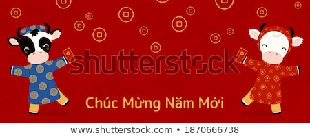 Red clothing boy_money Stock photo © toyotoyo