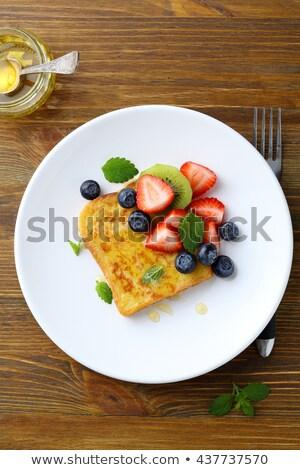 свежие · Ягоды · пластина · завтрак · лист · фрукты - Сток-фото © Melnyk
