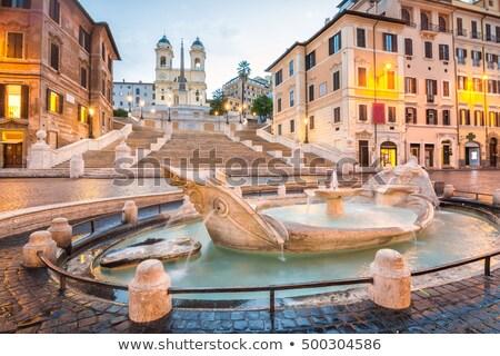 Espanol pasos Roma Italia famoso iluminado Foto stock © neirfy