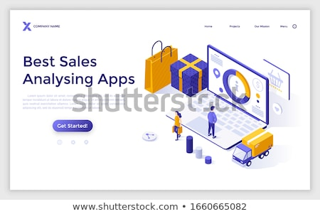 internet shopping statistical page and customers stock photo © robuart