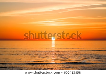 summer time poster with beach sunset scene Stock photo © SArts
