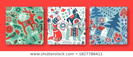 vector winter xmas pattern Stock photo © VetraKori