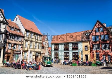 Straat huizen Duitsland centrum breed gebouwen Stockfoto © borisb17
