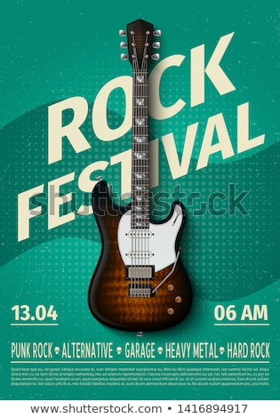music fest concept background with electronic guitar Stock photo © SArts
