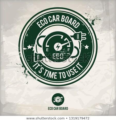alternative eco friendly car board stamp Stock photo © szsz